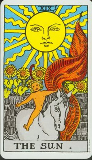 The Sun Rider Waite Tarot Deck